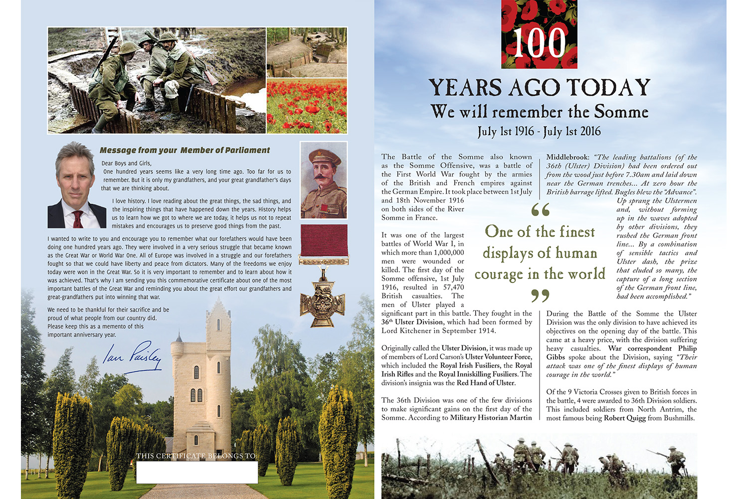 100 years Somme