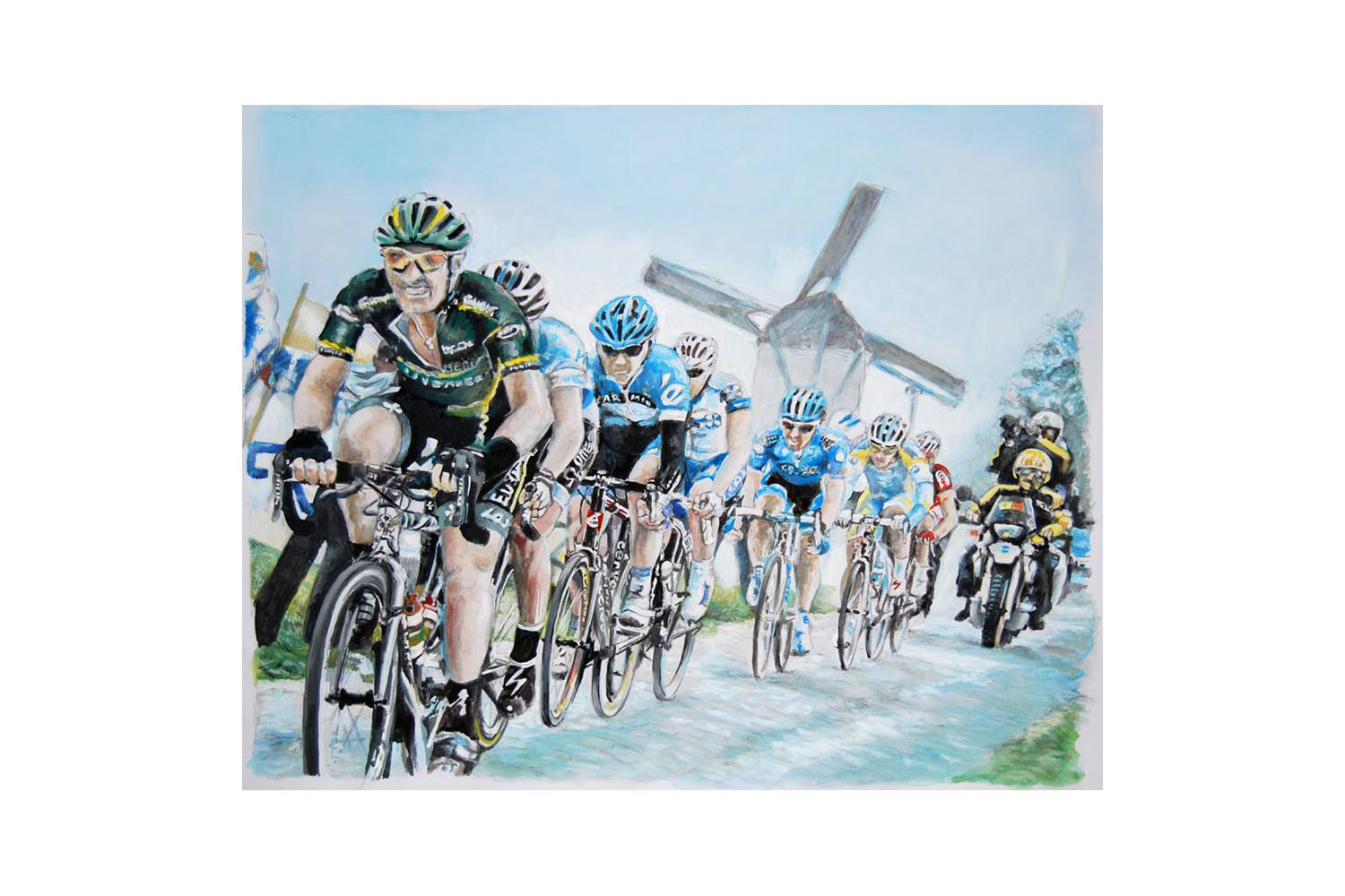Cyclists drawing