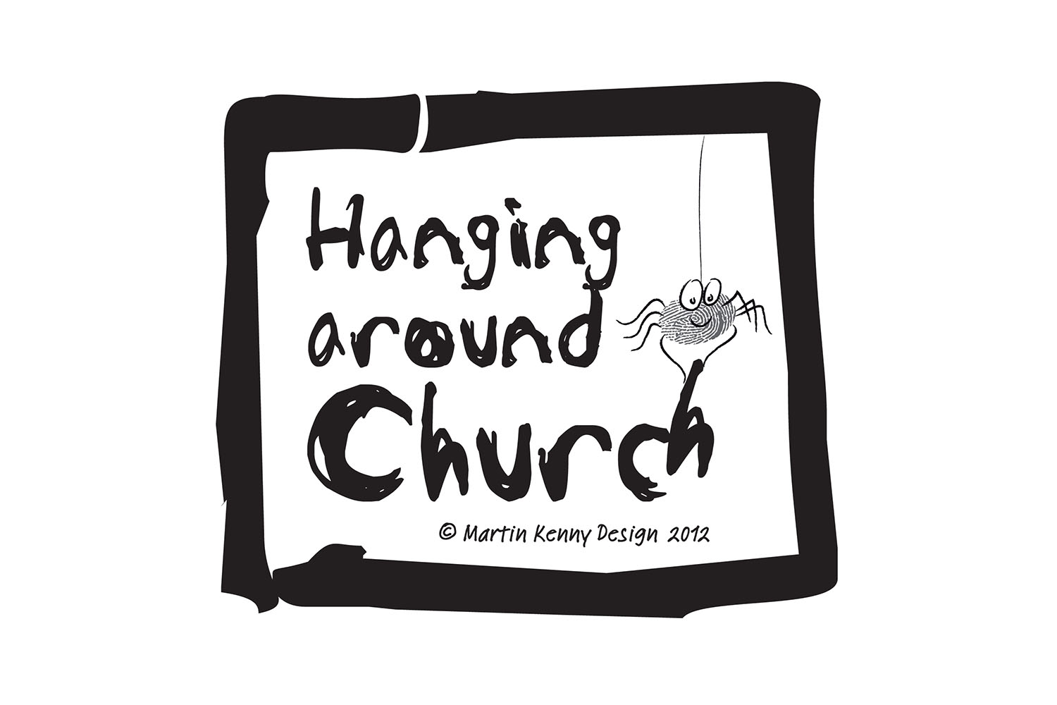 Hanging around church logo